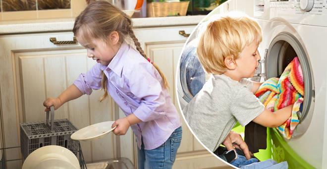 مراقبت از کودکان در نظافت منزل